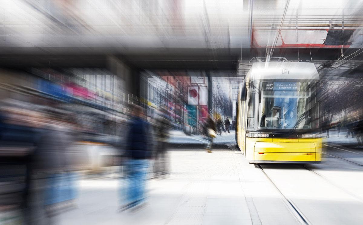 Straßenbahn am Alexanderplatz