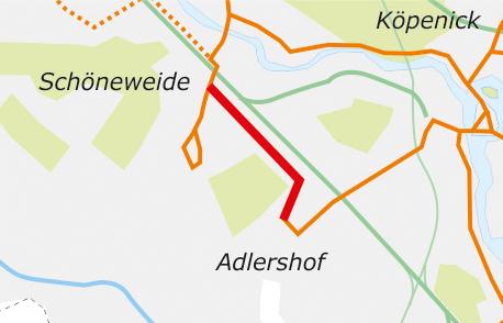 Tramstrecke Anbindung Wissenschaftsstadt Adlershof an S-Bhf. Schöneweide