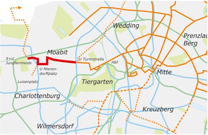 Straßenbahnstrecken Berlin-Moabit Zielnetz