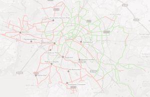 Zielnetz Straßenbahn Berlin 2050 (Hintergrundbild)